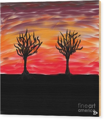 Fiery Twins Wood Print by Andy Heavens