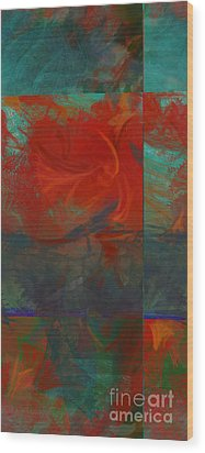 Fiery Whirlwind Onset Wood Print by CR Leyland