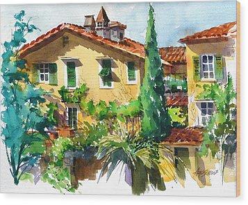 Fiesole Villa Wood Print by Art Scholz