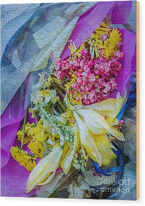 Fiesta In Blue Wood Print by Susan Cole Kelly Impressions