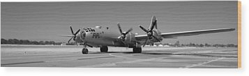 Fifi.  Enola Gay's B29 Superfortress Sister Visits Modesto Kmod. Wood Print