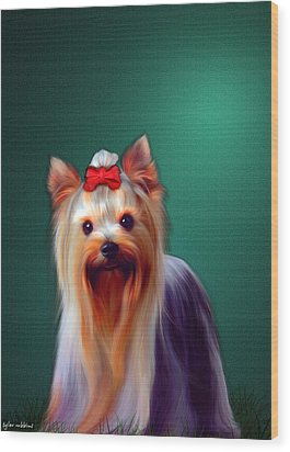 Wood Print featuring the painting Fifi by Tyler Robbins