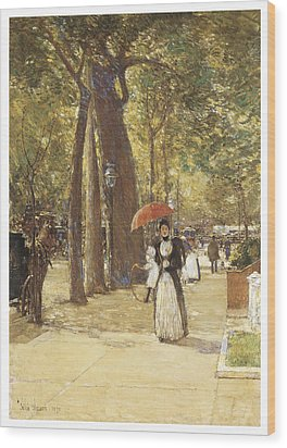 Fifth Avenue At Washington Square Wood Print by Childe Hassam