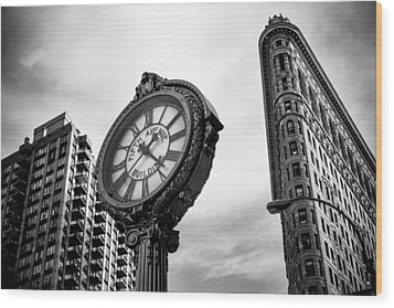 Fifth Avenue Building Clock Wood Print