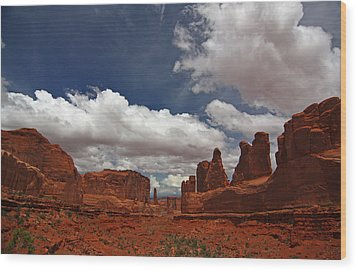 Fifth Avenue In Arches National Park Wood Print