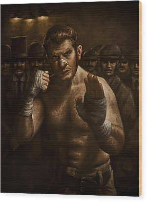 Fight Wood Print by Mark Zelmer