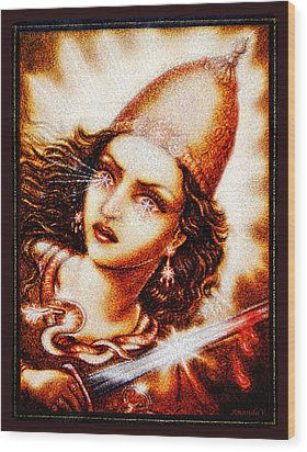 Fighting Goddess 2 Wood Print by Ananda Vdovic