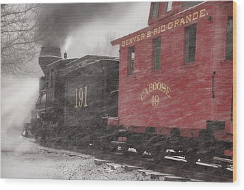 Fighting Through The Winter Storm Wood Print by Ken Smith