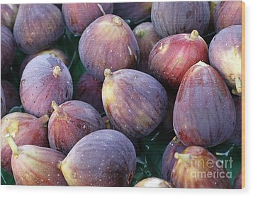 Figs Wood Print by Denise Pohl