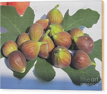 Wood Print featuring the photograph Figs First Harvest 2012 by Tina M Wenger