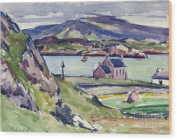 Figure And Kirk   Iona Wood Print by Francis Campbell Boileau Cadell
