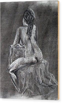 Figure Drawing 2 Wood Print by Corina Bishop
