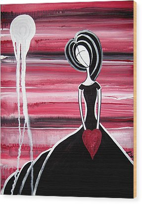 Figure Painting - I Hold Your Heart In My Hands Wood Print by Laura Carter