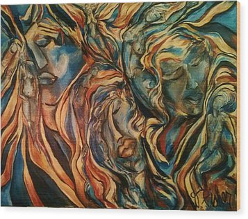 Figures Of  Beauty Wood Print by Dawn Fisher