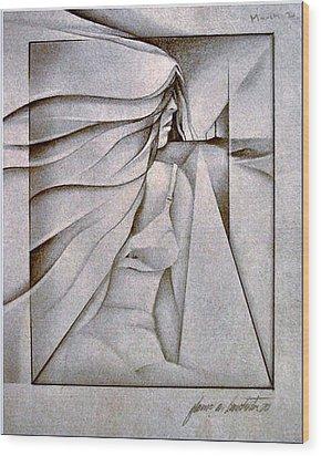 Figurescape 1970 Wood Print