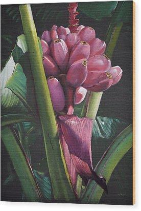 Fijian Bananas Wood Print