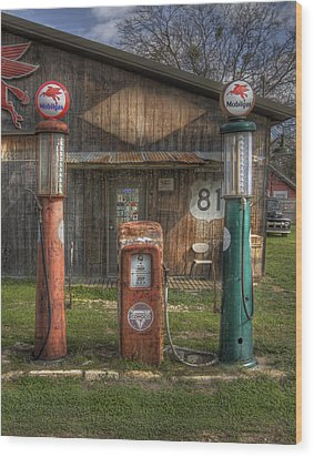 Fill 'er Up Wood Print by David and Carol Kelly
