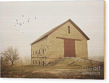 Filley Stone Barn 1 Wood Print
