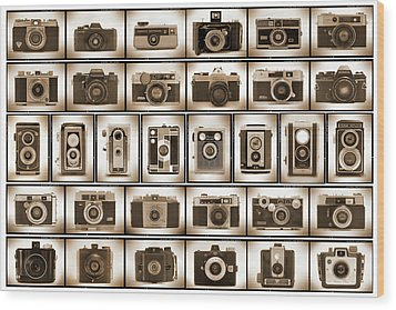 Film Camera Proofs Wood Print