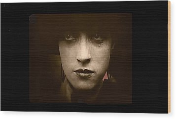 Film Homage Billy Bitzer Miriam Cooper Intolerance 1916 Screen Capture Color Added 2012 Wood Print by David Lee Guss