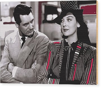 Film Homage Cary Grant Rosalind Russell Howard Hawks His Girl Friday 1940-2008 Wood Print