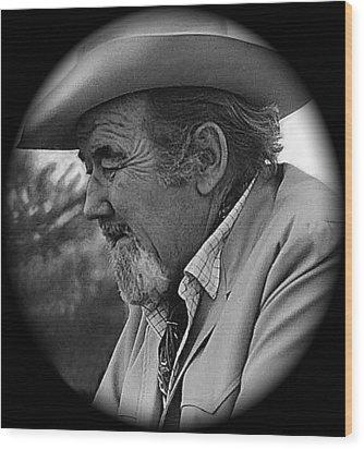 Film Noir Fritz Lang Broderick Crawford Glenn Ford Human Desire 1954 Tucson Arizona 1969 Wood Print by David Lee Guss