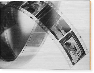 Film Strip Wood Print by Tommytechno Sweden