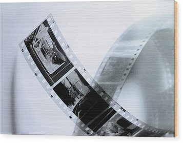 Film Strips Wood Print by Tommytechno Sweden
