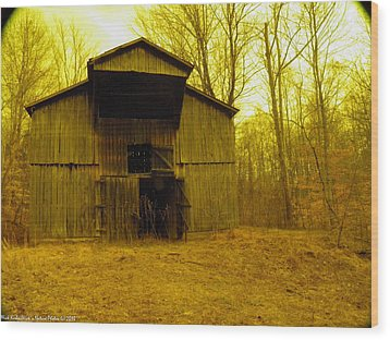 Wood Print featuring the photograph Filtered Barn by Nick Kirby