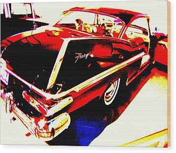 Fin Of Fury In A Plymouth Fashion Wood Print by Don Struke