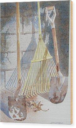 Final Curtain Wood Print