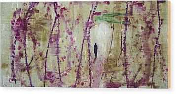 Final Exit Wood Print