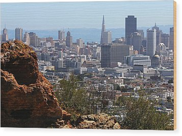 Financial District From Corona Heights Wood Print by Robert Woodward