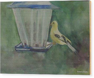 Finch Wood Print by Betty Pimm