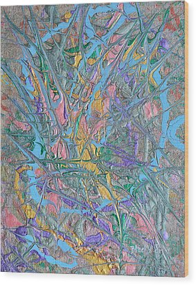 Finding Easter Wood Print by Donna Blackhall