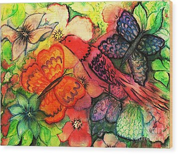 Wood Print featuring the painting Finding Sanctuary by Hazel Holland