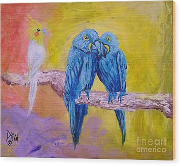 Fine Feathered Friends 1 Wood Print