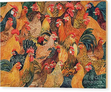 Fine Fowl Wood Print by Ditz