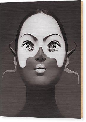 Fingers Wood Print by Yosi Cupano