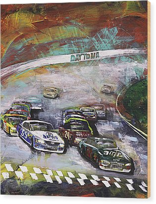 Finish Line Wood Print by Gray  Artus