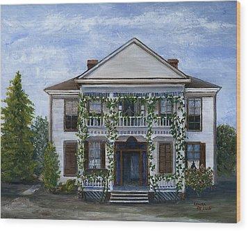 Finn Hotel Pleasant Hill Louisiana Wood Print by Lenora  De Lude