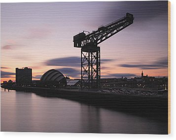 Finnieston Crane Glasgow  Wood Print by Grant Glendinning