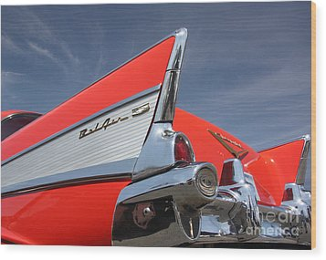 Fintastic '57 Chevy Wood Print by Kevin McCarthy