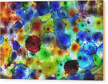 Fiori Di Como By Glass Sculptor Wood Print
