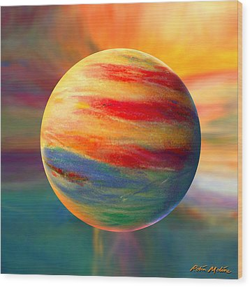 Fire And Ice Ball  Wood Print by Robin Moline