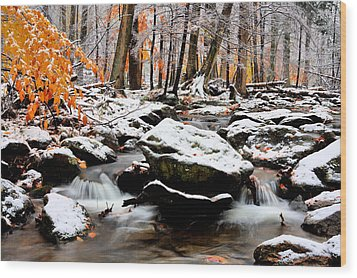 Fire And Ice Wood Print by JC Findley