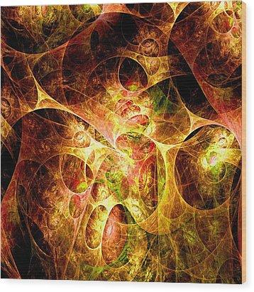 Fire And Shadow Wood Print by Anastasiya Malakhova