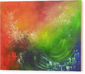 Fire And Water Wood Print by Christopher Vidal