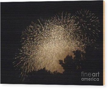 Fire Art Wood Print by Christina Verdgeline