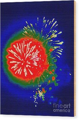 Fire Ball Wood Print by Shelia Kempf